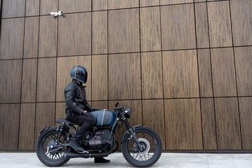 Vintage rebuilt motorcycle motorbike caferacer