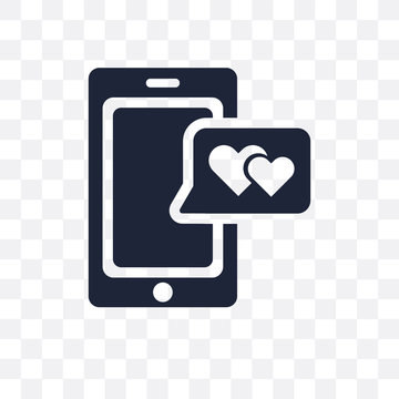 love Smartphone transparent icon. love Smartphone symbol design from Wedding and love collection.