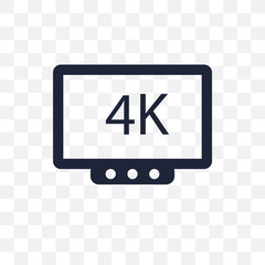 4k transparent icon. 4k symbol design from Cinema collection.