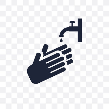 Hand wash transparent icon. Hand wash symbol design from Cleaning collection.