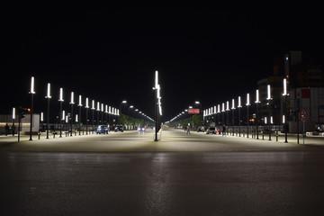 """The newly built """"New Boulevard of Tirana"""""""