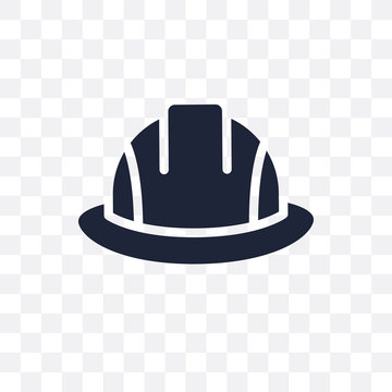 Safety helmet transparent icon. Safety helmet symbol design from Construction collection.