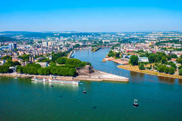 Koblenz city skyline in Germany