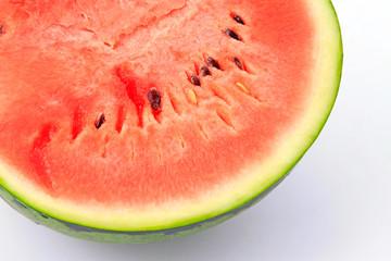 Watermelon profile in a white background