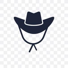 Cowboy Hat transparent icon. Cowboy Hat symbol design from Desert collection.