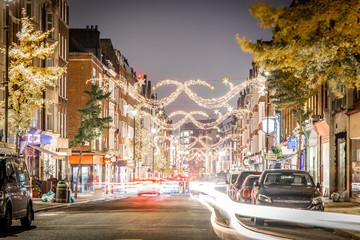 Marylebone decorated for Christmas, London