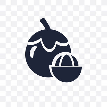 Mangosteen transparent icon. Mangosteen symbol design from Fruit and vegetables collection.