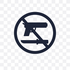 No weapons transparent icon. No weapons symbol design from Political collection.