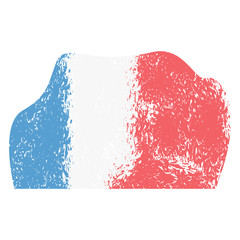 Isolated abstract flag sketch of france. Vector illustration design