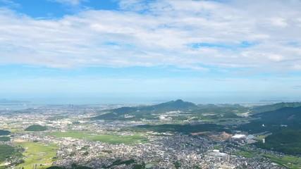 Wall Mural - 都市風景 福岡市 米の山展望台からの風景 タイムラプス