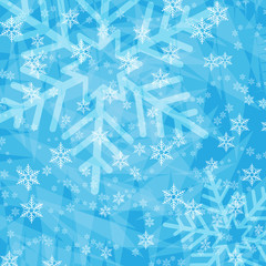 Christmas from snowflakes background