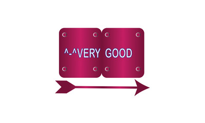 metal and arrow label ,magenta color and gradient. Very good banner and badges design.On white background.