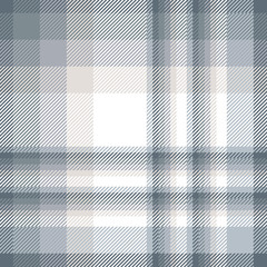 Plaid pattern in grayish blue, faded beige and white.