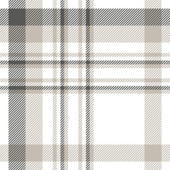 Plaid pattern in dark grey, light taupe and white.