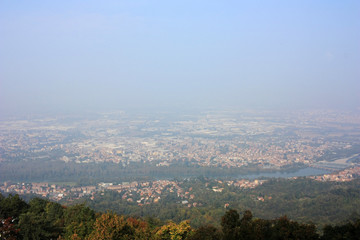 Haze over Turin, Italy
