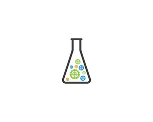 Laboratory symbol illustration