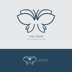 outline butterfly logo