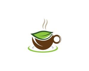Green tea logo illustration