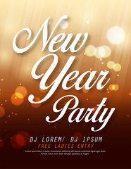 Creative Vector illustration of Happy New Year 2019 and Merry Christmas brochure, flyer, party, holiday invitation, corporate celebration