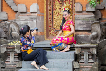 Pretty balinese woman in a photo session