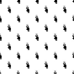 Finger touch cursor pattern seamless vector repeat for any web design