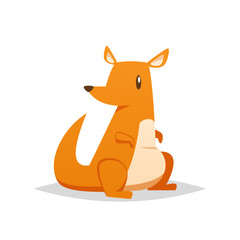 Cute kangaroo vector isolated
