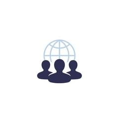 outsource icon, vector