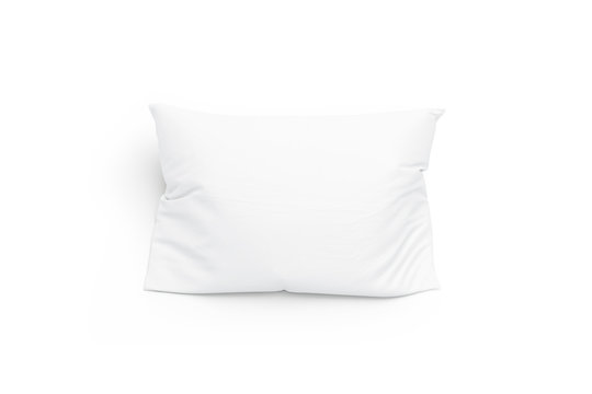 Blank white pillow mockup, isolated, top view