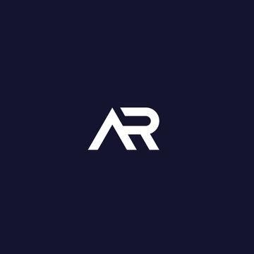 AR letter logo design