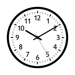 Simple Clock Icon with Classical 10 Past 10 Adjustment