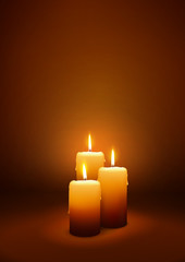 Third Advent - XMAS Card Template - Three Candles