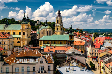Fototapeta  Przemysl Cathedral and the Old Town, viewed from the Clock Tower. 29-07-2016