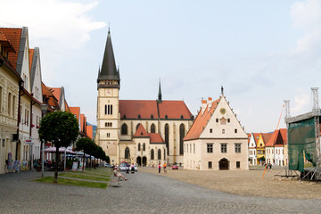 Bardejov, Slovakia. 2018/8/9. The Basilica of St Giles (Aegidius, Gilles) in Bardejov.