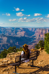 Woman in the grand Canyon