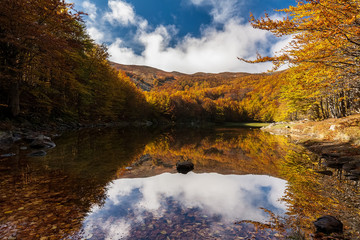 Monte Acuto lake, national park of Appennino Tosco Emiliano, Italy