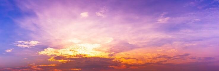 Panorama twilight exotic sky background