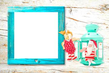 Christmas empty photo frame card