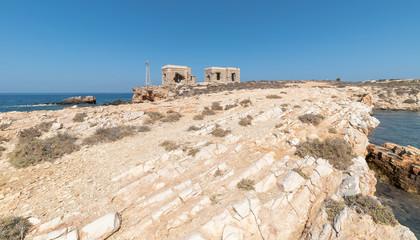 Marcello beach and Agios Fokas - Cyclades island - Aegean sea - Paroikia (Parikia) Paros - Greece