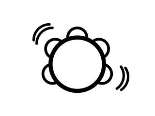 tambourine icon. vector illustration