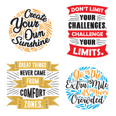 Motivation Quote and Saying Set