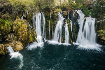 Great Una waterfalls in MArtin Brod, Bosnia and Herzegovina