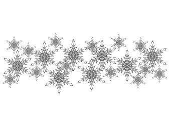 Christmas ornament of snowflakes. Decorative background