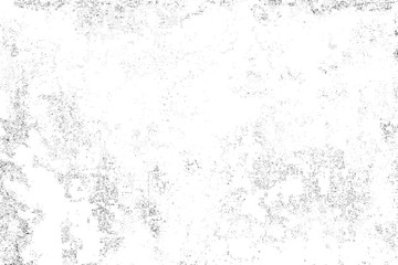 Black and White background. Abstract monochrome surface pattern of cracks, chips, scratches, stains, scuffs.