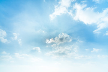 sky clouds sunny day background material