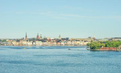 Hafen und Stadtansicht von Stockholm, Schweden