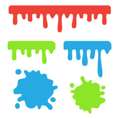 Dripping slime vector. Dripping liquid cartoon snot background