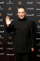 China's director Zhang Yimou poses on the red carpet at the 55th Golden Horse Awards in Taipei