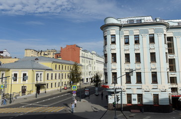 View of Malaya Dmitrovka Street in Moscow