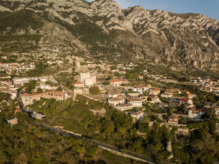 Aerial view of the city of Kruja, Albania.  A great city to learn more about Albanian history