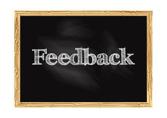 Feedback blackboard notice Vector illustration for design